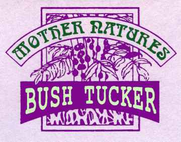 Mother Natures Bush Tucker logo features the Davidson's Plum, a native bushfood fruit suitable for bushtucker and permaculture